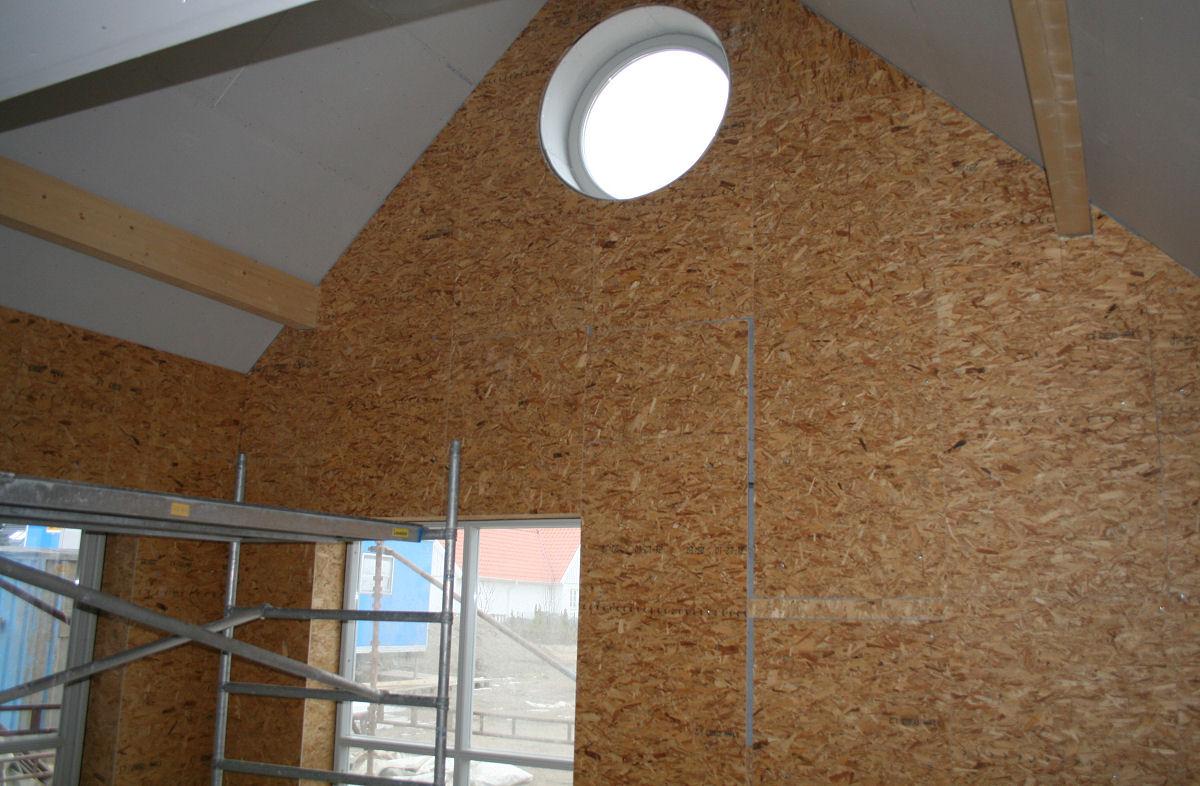 Vårt vardagsrum med öppet upp i nock « « Skumparp bygget